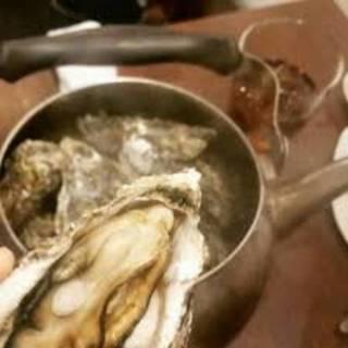 牡蠣のヤカン蒸し