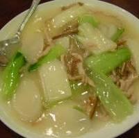 チンゲン菜と上海モチの炒め