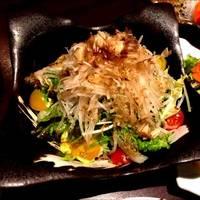カリカリじゃこと豆腐のサラダ