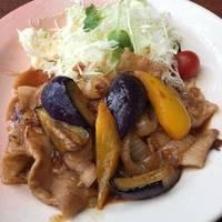 茄子と豚肉の生姜焼き