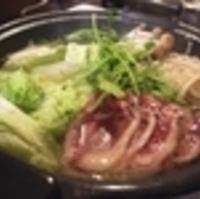 鴨肉と地鶏のハルハリ鍋