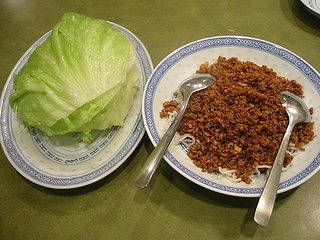豚肉ミンチレタス巻き
