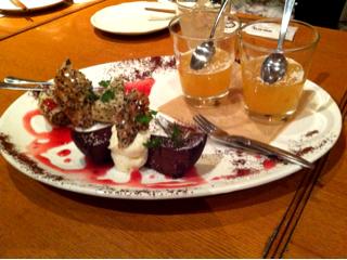 ガトーショコラ・紅茶のケーキ・オレンジゼリー