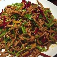 シンラーロースー豚肉と唐辛子の炒め物