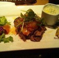 牛リブロース肉のタリアータと根菜のラタトゥイユ