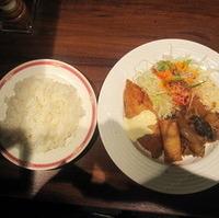豚バラの味噌炒め 白身魚フライ&春巻