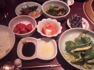 塩焼き肉盛合せ定食/壱語屋