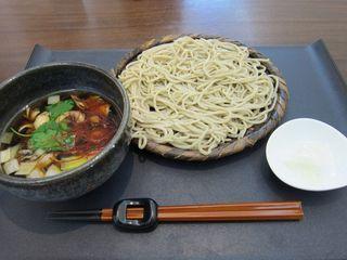 舞茸ぺペロン汁蕎麦