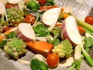 生野菜とバーニャカウダ