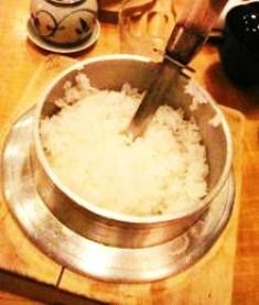 白米小釜炊き