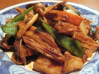 中国湯葉のウマ辛炒め