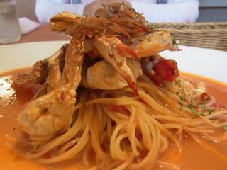 ワタリガニのスパゲッティ トマトソース