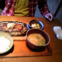 山百合豚と和牛のハンバーグ膳