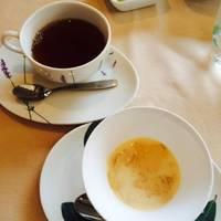 ランチのコーヒーとデザート