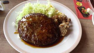 照り焼きハンバーグ&鶏の唐揚げ