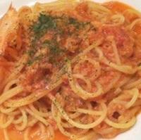渡り蟹のトマトクリームスパゲティ
