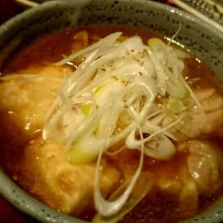 鶏と豆腐の中華風治部煮