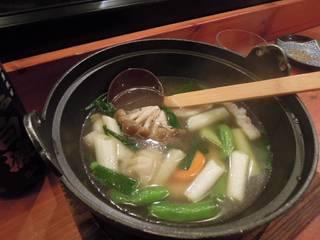 もち豚と野菜のスープ