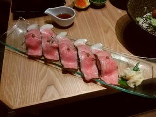 松阪牛の握り寿司