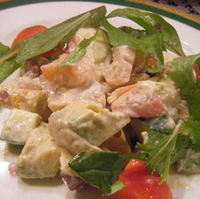 アボガドの海鮮サラダ