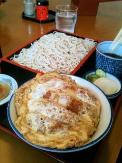 もり蕎麦とミニかつ丼のセット