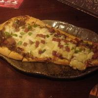 ナンのエスニックピザ