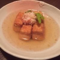 蟹あげ出し豆腐