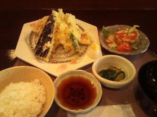 魚介類てんぷら定食