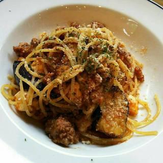揚げ茄子とモッツァレラチーズのボロネーゼ