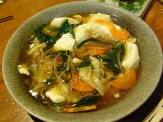 野菜あんかけ豆腐