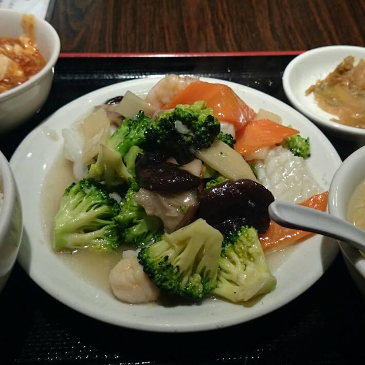 海鮮ブロッコリー定食