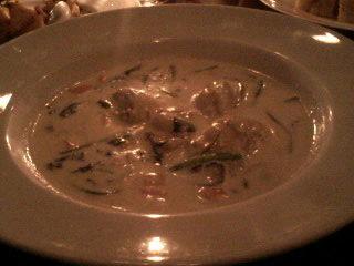 牡蠣のチャウダー