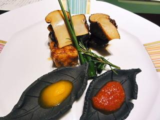 松茸と和牛ロースのすき焼きロール/なだ万日本橋三越本店