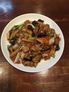 ナスと豚肉と野菜あんかけご飯