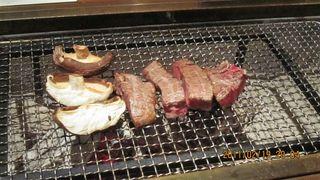 田村牛の炭火焼