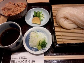 二味せいろ 醤油つゆとごま味噌つゆ/銀座佐藤養助