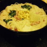 チーズクリームスープスパゲッティー