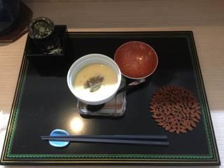 鱧と純菜の茶碗蒸し
