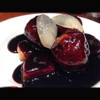 肩ロース肉のまっ黒な黒酢スブタ