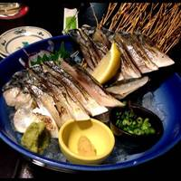 【新】特大〆鯖の炙り刺し