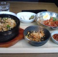 石焼きピビンパとミニ冷麺定食