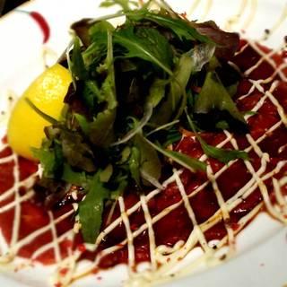 桜肉のカルパッチョ