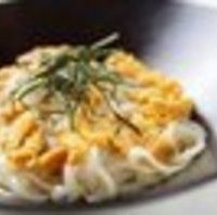 雲丹の醤油風味パスタ