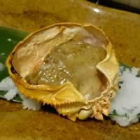 紅ずわい蟹身の蟹味噌甲羅焼き
