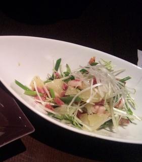 ねぎと水菜のさっぱりサラダ