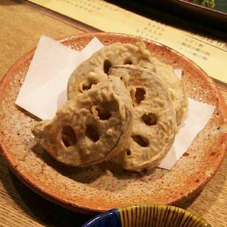 れんこん天ぷら 加賀野菜