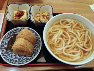かしわ飯にぎり定食/因幡うどんデイトス店