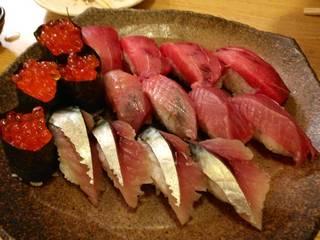 お任せコースの中のお寿司