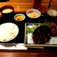 ミンチカツ&唐揚げ定食