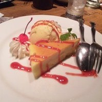 NYチーズケーキ&バニラアイス